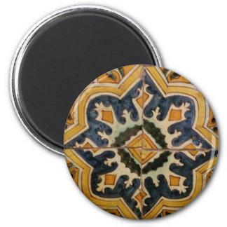 Ottoman Turkish vintage ceramic tile yellow star Magnet