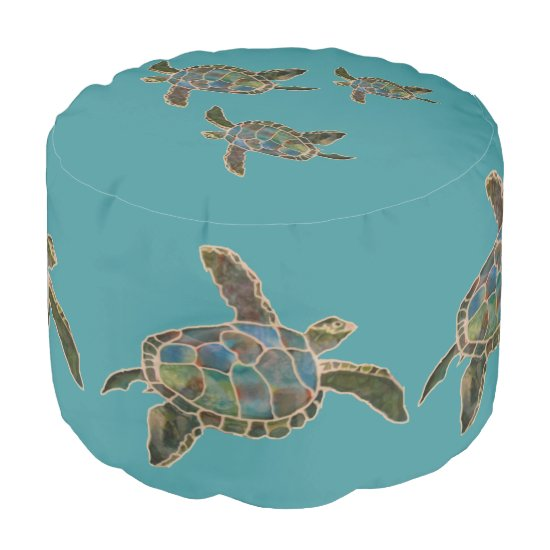 Ottoman - Turtles Swimming