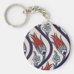 Ottomans Tulip Pattern / Tile Art Keychain