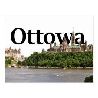 Ottowa, Canada Skyline with Ottowa in the Sky Postcard