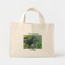 Ott's Waterfall Think green, re-Bag Tote Bag
