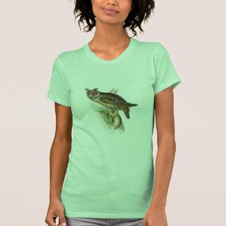 Otus espigado largo del asio del búho del vintage camiseta