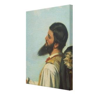 Ou Bonjour M.Courbet de Rencontre del La, Lienzo Envuelto Para Galerias