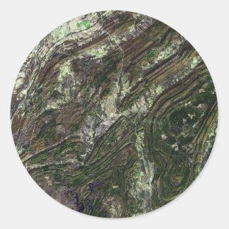 Ouachita Mountains Classic Round Sticker