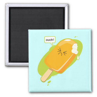Ouch! 2 Inch Square Magnet