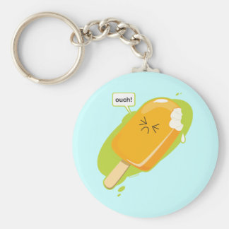 Ouch! Basic Round Button Keychain