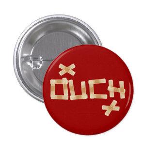 Ouch botón pin redondo de 1 pulgada