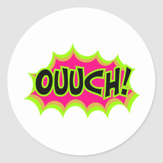 Ouch! Classic Round Sticker