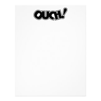 OUCH! COMIC OUCH COMIC-BOOK EXCLAMATION SHOUT COMM LETTERHEAD