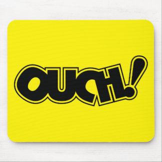 OUCH! COMIC OUCH COMIC-BOOK EXCLAMATION SHOUT COMM MOUSE PAD