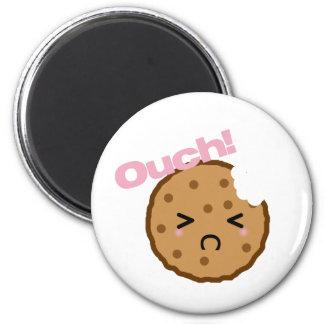"""¡""""Ouch! """"dice la galleta de Kawaii Imán Redondo 5 Cm"""