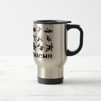 ouch pain travel mug