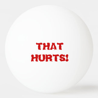 Ouch! That Hurts! Talking Ping Pong Ball