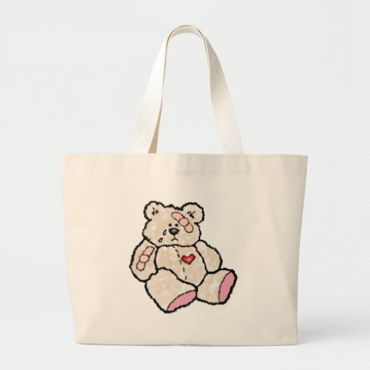 Ouchie Bear Large Tote Bag