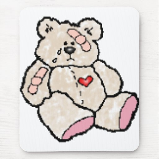 Ouchie Bear Mouse Pad