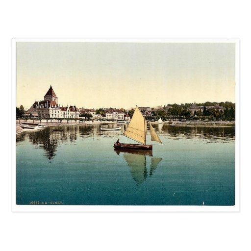 Ouchy, del lago, cla del lago geneva, Suiza Tarjeta Postal
