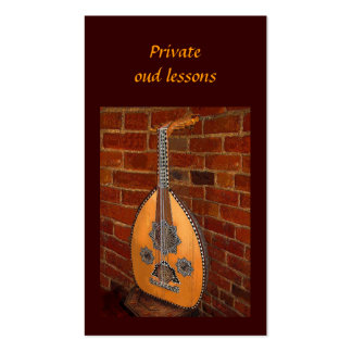 Oud Lessons Business Card