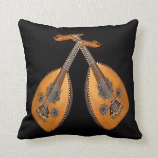 Oud Music Instrument Outdoor Pillow