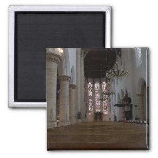 Oude Kerk, Delft 2 Inch Square Magnet