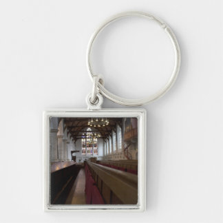Oude Kerk, Delft Silver-Colored Square Keychain