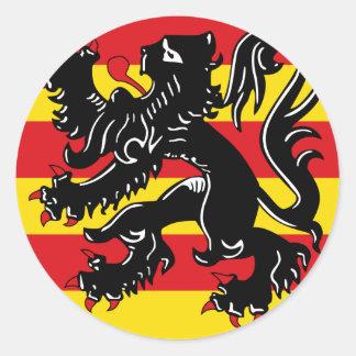 Oudenaarde, Belgium flag Classic Round Sticker