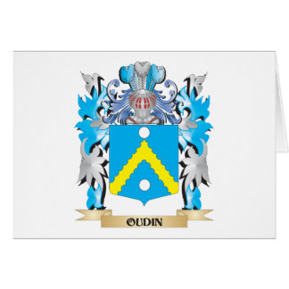 Oudin Coat of Arms - Family Crest Stationery Note Card