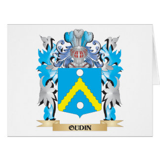 Oudin Coat of Arms - Family Crest Large Greeting Card