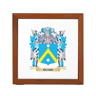 Oudin Coat of Arms - Family Crest Desk Organizer