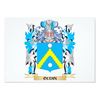 Oudin Coat of Arms - Family Crest 5x7 Paper Invitation Card