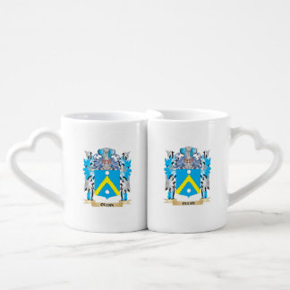 Oudin Coat of Arms - Family Crest Couples' Coffee Mug Set