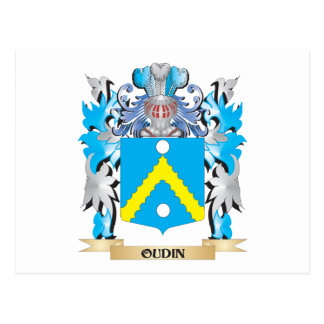 Oudin Coat of Arms - Family Crest Postcard
