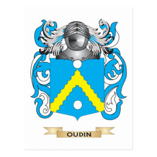 Oudin Coat of Arms (Family Crest) Postcard