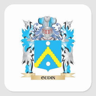 Oudin Coat of Arms - Family Crest Square Sticker