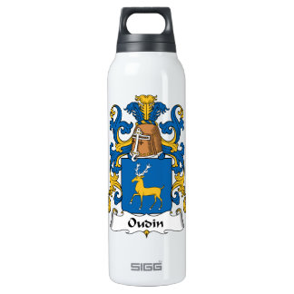 Oudin Family Crest 16 Oz Insulated SIGG Thermos Water Bottle