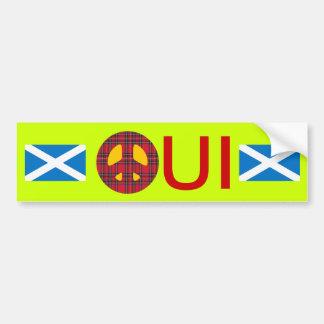 Oui ningún pegatina escocés de la independencia de pegatina de parachoque