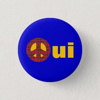 Oui No Trident Scottish Independence Badge Pinback Button