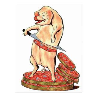 Oui retro de Oui del cerdo de Hara Kari de la Tarjetas Postales