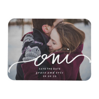 Oui | Save the Date Photo Magnet
