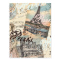 Oui Vintage Paris shabby chic design by LeahG Post Cards