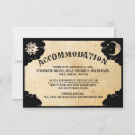 🎃  Ouija Wedding Accommodation Cards Gothic Halloween