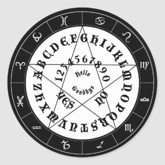 Ouija Witch Decal Round Stickers