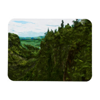 Ouimet Canyon Canada Abstract Impressionism Magnet