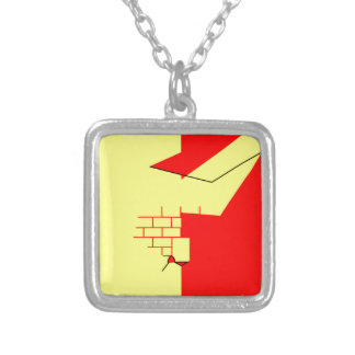 Oujda-angad-Bandera Collar Plateado