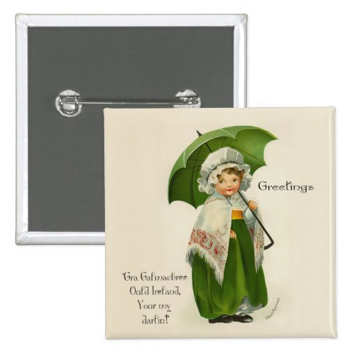 Ould Ireland Greetings Button