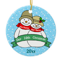 Our 10th Christmas Ceramic Ornament