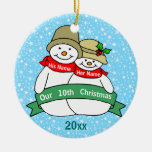 Our 10th Christmas Christmas Ornaments