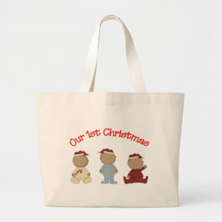 Our 1st Christmas 2009 (African American Triplets) Canvas Bag
