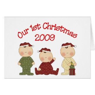 Our 1st Christmas 2009 (Triplets) Card