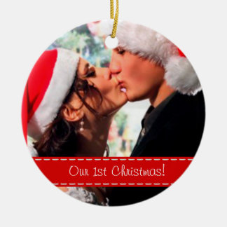 Our 1st Christmas - Add your photo Christmas Ornaments