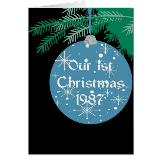 Our 1st Christmas Memories, 1987 Card